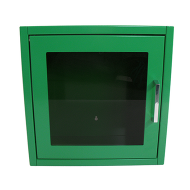 AED Cabinet Indoor - Green - front view