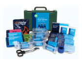 BS8599-1 Small Catering First Aid Kit in Green Durham Box
