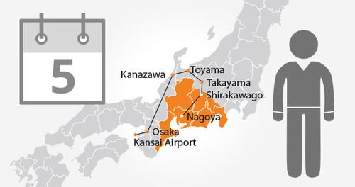 Takayama-Hokuriku Area Tourist Pass - 5 Days - Adult