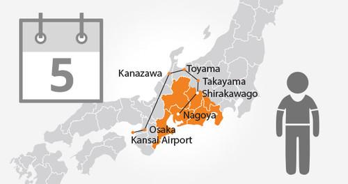 Takayama-Hokuriku Area Tourist Pass - 5 Days - Child