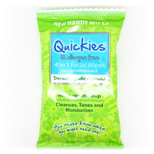 Quickies Allergen Free 4 in 1 Facial Travel Wipes 12s