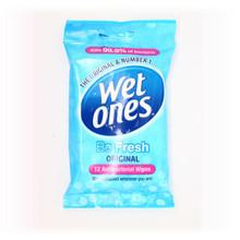 Wet Ones Be Fresh Original Antibacterial Travel Wipes 12s