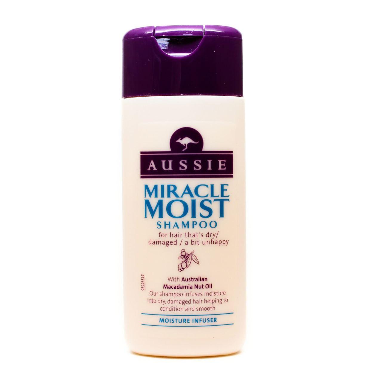 Aussie Miracle Moist Mini Shampoo 75ml Go Tiny