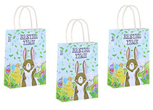 Pack of 12 Easter Time Lunch Bags Party Gift Bags for Children