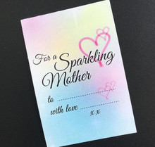 Pack of 10 'For A Sparkling Mother' Pastel Gift Tags Special Occasion Mothers Day
