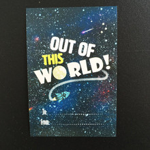 Pack of 10 'Out of this world' Space Gift Tags for Children! Special Occasions / Birthdays