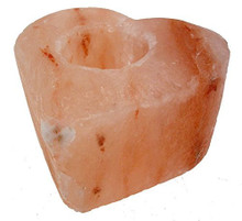 Natural Himalayan Salt HEART Candle Holder Tealight Home Decoration Therapy
