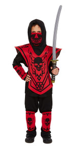 Kids Ninja Fancy Dress Outfit - Ages 4-12 Years (Children: L)