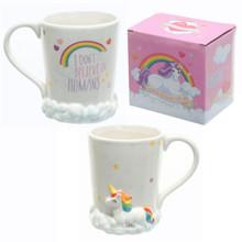 Enchanted Unicorn Rainbow Clouds Mug