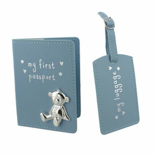 My First Passport and Luggage Tag -Blue