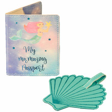 Mermaid Passport Holder and Luggage Tag
