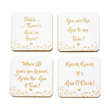 Gin coasters. - Set of 4 Coasters