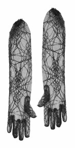 Spiderweb gloves - Black Lace Fancy Dress - witch spider costume accessory
