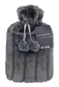 Hot Water Bottles- Furry- Dark Grey