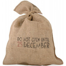 Have a very magical Christmas with this rustic style hessian sack, the words on the sack read 'Do Not Open until the 25th December' in proud black print. Imagine having this vintage Christmas sack sitting alongside your Christmas Tree! Great for storing and delivering Christmas goodies and pretending that you're Santa himself!  Brand: East of India  Demotions :H75 x W50cm  Material : Jute  Product Type : Christmas