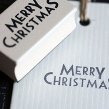 Merry Christmas Stamp . Add an individual touch to all your Christmas cards, tags, and presents with this rubber stamp which says 'Merry Christmas'  Does not come with an ink pad  Measures 3.6cm wide and 2cm tall