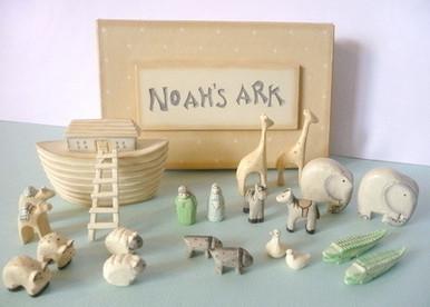 Noahs Ark Gift Boxed Set Hand Carved Bargains 4 Ever