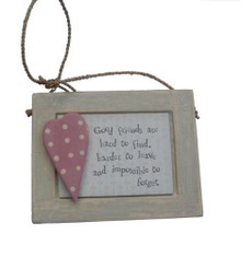 """Good Friend Gift Plaque  A lovely sentimental token gift for a special friend . The plaque's message reads """"Good Friends are hard to find harder to leave and impossible to forget""""  Measurements : 8.5 x 10.2 x 1.2cm"""