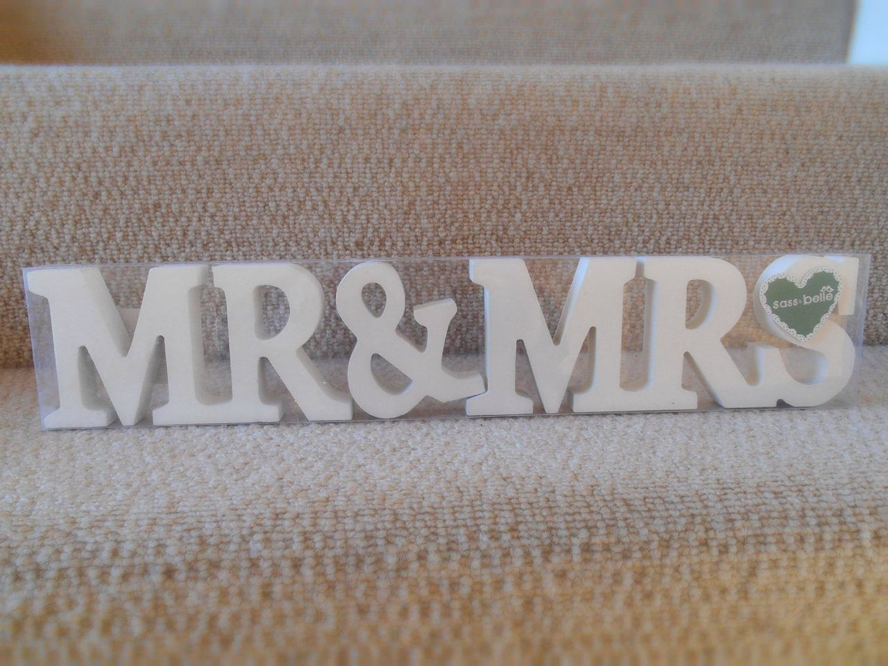 Mr And Mrs Large Wooden Letters: Mr And Mrs Wooden Letters