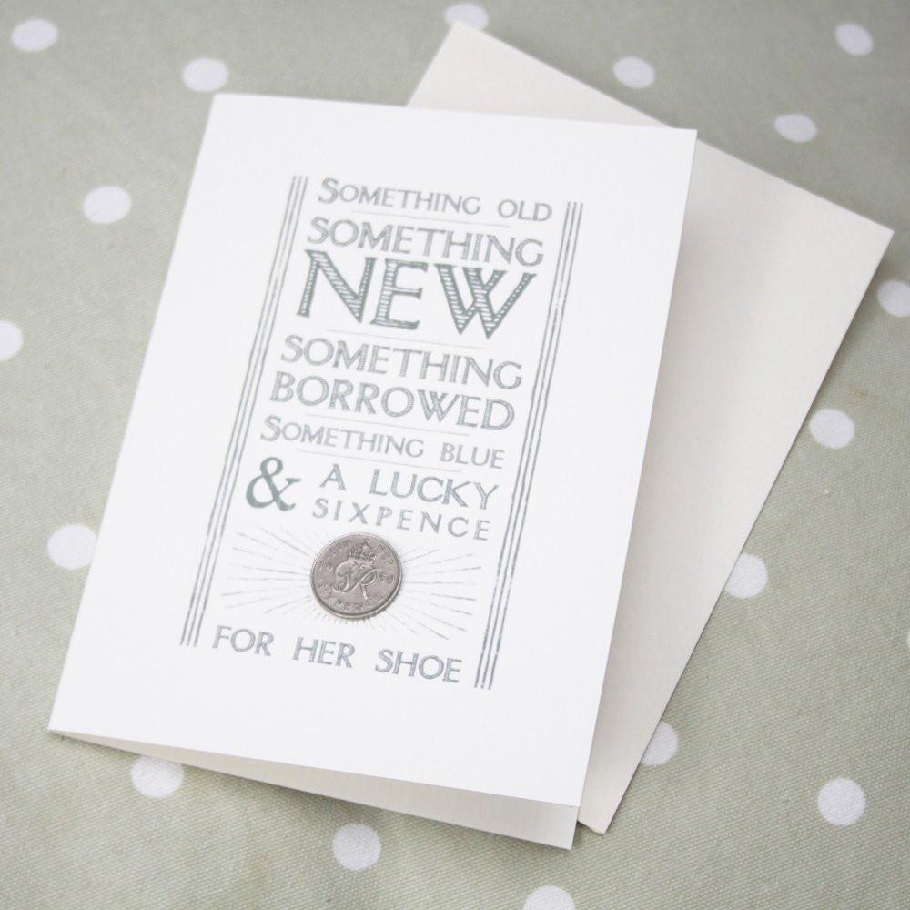 Wedding Day Card Something Old Something Borrowed