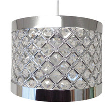 Item : Easy Fit Light Decorations   Design : Moda   Colour : Silver   Size : 24 cm diameter approx   Compatible with : LED bulb, energy saver, incandescent bulb, universal pendant fitting, 60 W MAX