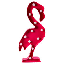 Dimension - 50.5 x 22 x 5 cm •Material - Metal •Colour - Pink   LED lights don't get much cooler than this. From the Tropical Summer collection, this item is full of charm and is perfect for the new spring season. Made from metal, it comes in hot pink and has an attachment so that it can be hung on the wall. With big bulbs, this super stylish light has a retro-inspired touch and contemporary accents.   Requires two AA batteries. Batteries not included