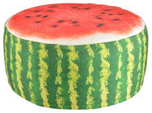 If you are looking for something different to sit on then look no further than these unique garden pouffe's.   With their fruity design they are sure to be a talking point! Throw-away the old plastic chairs because once you've sat on our fun fruity print inflatable pouffe you'll never go back!   Don't just limit them to the garden though, as they would be fun anywhere around the home or as extra seating when unexpected friends pop by. When not needed simply deflate for easy storage.  Dimensions 58,0x58,0x32,5 cm