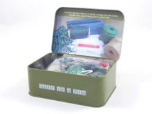Garden Bits & Bobs  A tin of essential items that are needed by all gardeners for tying and labelling around the garden and greenhouse. Keep them all safely stored and conveniently to hand in the useful tin.     Contents:  Jute twine (1 green, 1 natural), garden wire, 25 plant labels, pencil, 30 climbing plant supports, 100 twist ties.      Adults only, this is not a toy.  Dimensions: 100mm High x 145mm Wide x 55mm Deep   Weight: 385g