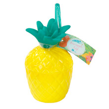 Wow your guests with our neat pineapple plastic cup and straw. Friends and family will love sipping on their fruity drinks in these bright tropical plastic cups, great for a beach themed garden party or luau.   Our pineapple plastic cups are sold separately, are 14cm tall and come with a bright green straw.