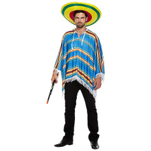 A Mexican Poncho Fancy Dress Costume Mens AND ladies. (Sombrero not included)