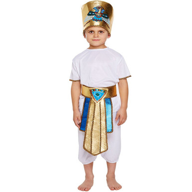 Image 1  sc 1 st  Bargains 4 Ever & Egyptian Tutankhamun Pharaoh King Childrens Boys Fancy Dress Costume ...