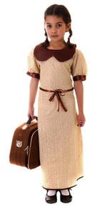 Evacuee Girl War Time Fancy Dress Costume 10 - 12 years