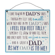 My Dad's Shoes Metal Wire Hanging Plaque Gift