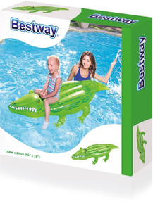 Crocodile Inflatable Ride On Toy (Green)