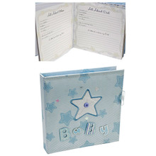 Baby Record Book/Journal and Keepsake Box Blue Christening Gift