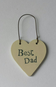 "East of India East of India Tiny Heart Gift Tag ""Best Dad"""