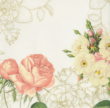 Talking Tables Blossom & Brogues Floral Paper Napkins for a Wedding or Tea Party, Multicolor (20 Pack)