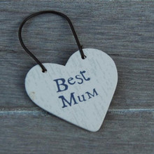 East of India Wooden Best Mum Gift Tag
