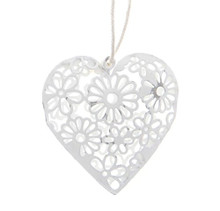 Shabby Chic Christmas heart decorations - Wedding or Christmas