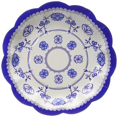 Image 1  sc 1 st  Bargains 4 Ever & Talking Tables Party Porcelain Blue Vintage Paper Plates for a Tea ...