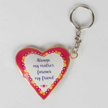 Sasse and Belle Always Mother Flower Pop Heart Keyring