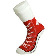 Bluw Red Sneaker Trainer Style Socks