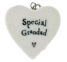 East of India Special Grandad Porcelain Heart Keyring