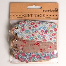 Floral Large Luggage Tags English Country Garden 3 designs x 5 - Wedding / Gift Tags