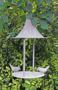 Aged Metal Hanging Bird Feeder