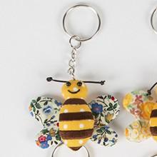 Buzz Bee Fabric Keyring