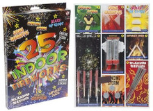 25 Indoor Firework Set Sparklers Fun Pack 8 Different Fireworks New Year's Party