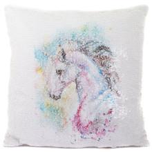 Unicorn Glitter Sequin Cushion - Filled Cushion Pillow
