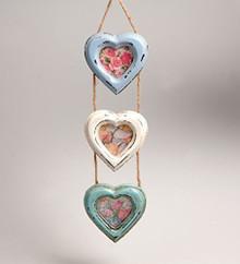 Vintage Delilah Triple Heart Hanging Photo Frame Small Sass & Belle