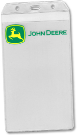 #8X4U - Large Credential Vinyl Badge Holder, custom printed